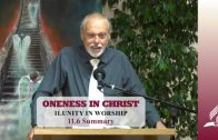 11.6 Summary – UNITY IN WORSHIP   Pastor Kurt Piesslinger, M.A.
