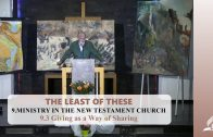 9.3 Giving as a Way of Sharing – MINISTRY IN THE NEW TESTAMENT CHURCH | Pastor Kurt Piesslinger, M.A.