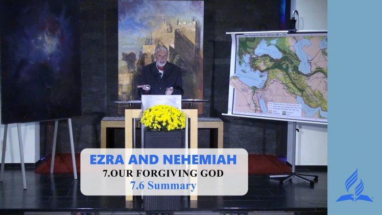 7.6 Summary – OUR FORGIVING GOD | Pastor Kurt Piesslinger, M.A.