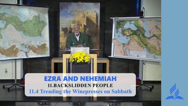 11.4 Treading the Winepresses on Sabbath – BACKSLIDDEN PEOPLE | Pastor Kurt Piesslinger, M.A.
