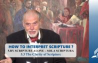 5.3 The Clarity of Scripture – BY SCRIPTURE ALONE – SOLA SCRIPTURA | Pastor Kurt Piesslinger, M.A.