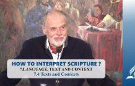 7.4 Texts and Contexts – LANGUAGE, TEXT AND CONTEXT | Pastor Kurt Piesslinger, M.A.