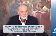 7.5 Books and Their Messages – LANGUAGE, TEXT AND CONTEXT | Pastor Kurt Piesslinger, M.A.