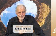 8.3 Running Away – FREE TO REST   Pastor Kurt Piesslinger, M.A.